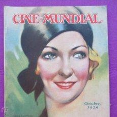 Cine: REVISTA CINE, CINE - MUNDIAL, OCTUBRE 1929, LAURA LA PLANTE, RC4. Lote 47660351