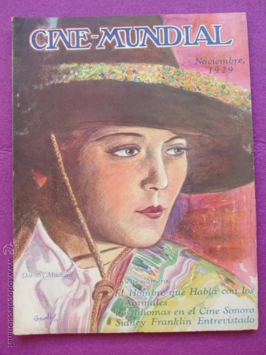 REVISTA CINE, CINE - MUNDIAL, NOVIEMBRE 1929, DOROTHY MACKAILL, RC5 (Cine - Revistas - Cine Mundial)