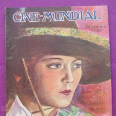 Cine: REVISTA CINE, CINE - MUNDIAL, NOVIEMBRE 1929, DOROTHY MACKAILL, RC5. Lote 47660399