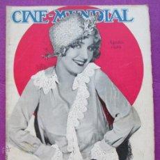 Cine: REVISTA CINE, CINE - MUNDIAL, AGOSTO 1929, LEILA HYAMS, RC18. Lote 47661247