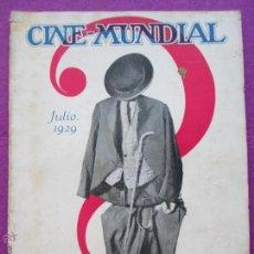 Cine: REVISTA CINE, CINE - MUNDIAL, JULIO 1929, RC19. Lote 47661376