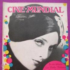 Cinema: REVISTA CINE, CINE - MUNDIAL, SEPTIEMBRE 1929, CAROL LOMBARD, RC20. Lote 47661480