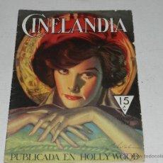 Cine: (M-1) CINELANDIA FEBRERO 1934 KATHARINE HEPBURN, SEÑALES DE USO. Lote 47699649