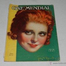 Cine: (M-1) CINE MUNDIAL , CLARA BOW - JULIO 1931 , LOMO CON ROTURITAS. Lote 153061264