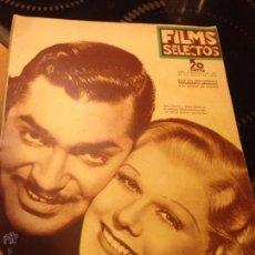 Cine: REVISTA FILMS SELECTOS AÑO VII 1936 CLARK GABLE JEAN HARLOW. Lote 47859185
