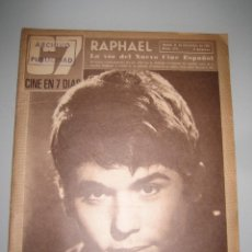 Cinema: REVISTA CINE EN 7 DIAS Nº 299 RAPHAEL. Lote 47877588