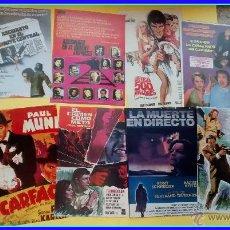 Cine: LOTE 12 REPRODUCCIONES CARTELES DE CINE (RECORTES DE REVISTAS): GÁNGSTERS, ASESINATOS, SCARFACE. Lote 47879729
