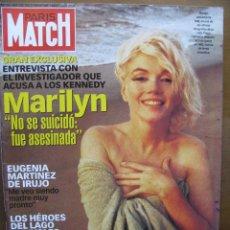 Cine: PARIS MATCH. PORTADA MARILYN MONROE (NO SE SUICIDÓ FUÉ ASESINADA). 22 DE OCTUBRE 1998. COMPLETA.. Lote 47883063