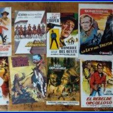 Cine: LOTE 8 REPRODUCCIONES CARTELES DE CINE (RECORTES DE REVISTAS): WESTERN, OESTE, 7 MAGNÍFICOS. Lote 47904612