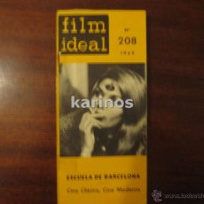 Cine: FILM IDEAN Nº 208. ESCUELA DE BARCELONA. CINE CLÁSICO, CINE MODERNO (1969) C2. Lote 47911668