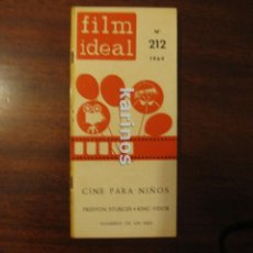 Cine: FILM IDEAL Nº 212. CINE PARA NIÑOS. PRESTON STURGES. KING VIDOR. NOMBRES DE UN MES. (1969) C2. Lote 47913901