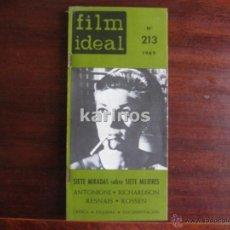 Cine: FILM IDEAL Nº 213. SIETE MIRADAS SOBRE SIETE MUJERES. ANTONIONI. RICHARDSON. RESMNAIS. ROSSEN... C2. Lote 54203183
