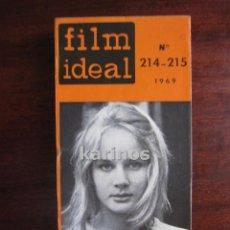Cine: FILM IDEAL Nº 214-215. VON STERNBERG. BRESSON. ARANDA. ERICE. EGEA. GUERIN. SAN SEBASTIAN C2. Lote 47914030