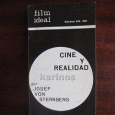 Cine: FILM IDEAL Nº 224-225. CINE Y REALIDAD POR JOSEF VON STERNBERG. FUN IN A CHINESE LAUNDRY C2. Lote 47914340