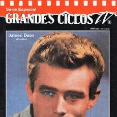 Cine: GRANDES CICLOS TV. JAMES DEAN, CON POSTER. Lote 47990682
