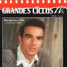 Cine: GRANDES CICLOS TV. MONTGOMERY CLIFT. Lote 47991018