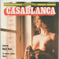 Cine: PAPELES DE CINE CASABLANCA - Nº 37 - 1984 - RAUL RUIZ, JAMES BOND, J.-L. GODARD, EL RETORNO DEL JEDI. Lote 48147816