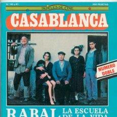 PAPELES DE CINE CASABLANCA - Nº 40-41 - 1984 - SERGIO LEONE, PAUL VERHOEVEN, PACO RABAL, HITCHCOCK