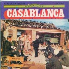 Cine: PAPELES DE CINE CASABLANCA - Nº 43 - 1984 - ESPECIAL HITCHCOCK, CANNES, LUIS CIGES, INDIANA JONES. Lote 48147941