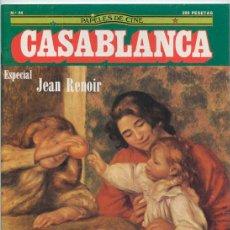 Cine: PAPELES DE CINE CASABLANCA - Nº 44 - 1984 - ESPECIAL JEAN RENOIR, HITCHCOCK (II), VENECIA, SPIELBERG. Lote 48147965