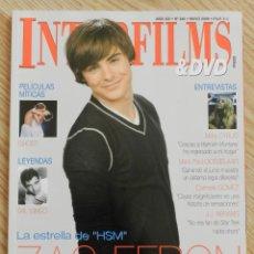 Cine: REVISTA INTERFILMS & DVD Nº 240 Nº240 AÑO 2009 ZAC EFRON HSM GHOST SAL MINEO MILEY CYRCUS GOSSELAAR . Lote 48274687