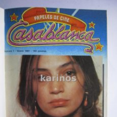 Cine: PAPELES DE CINE CASABLANCA 1981 COMPLETO. 11 REVISTASDE LA Nº1 A LA Nº 11. B4. Lote 48299479