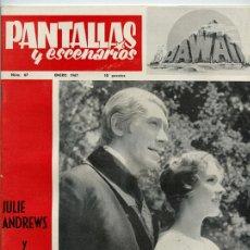 Cine: REVISTA PANTALLAS Y ESCENARIOS - Nº 67 - 1967 - JULIE ANDREWS Y MAX VON SYDOW, CARMEN LOZANO. Lote 48383448