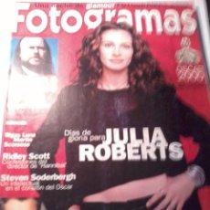 Cine: REVISTA FOTOGRAMAS NUMERO 1890. ABRIL 2001. DÍAS DE GLORIA PARA JULIA ROBERT.. Lote 48542396