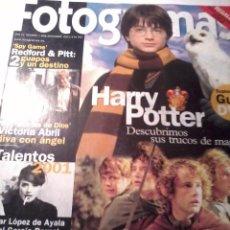 Cine: REVISTA FOTOGRAMAS NUMERO 1898 DICIEMBRE 2001.. Lote 48542589