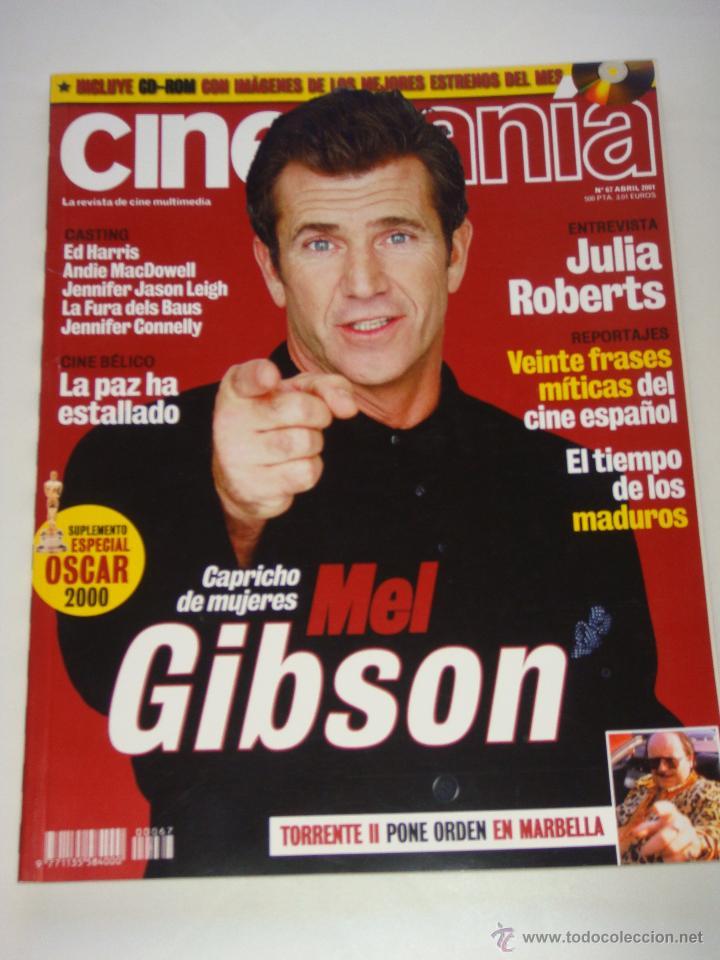 REVISTA CINEMAÍA Nº 67, ABRIL 2001, PORT. MEL GIBSON (Cine - Revistas - Cinemanía)