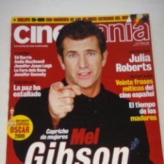 Cine: REVISTA CINEMAÍA Nº 67, ABRIL 2001, PORT. MEL GIBSON. Lote 48588835