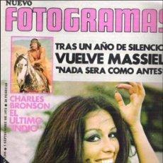 Cine: FOTOGRAMAS Nº Nº 1246 ** SEPT 1972 MIA FARROW / CHARLES BRONSON / MASSIEL *. Lote 19362470