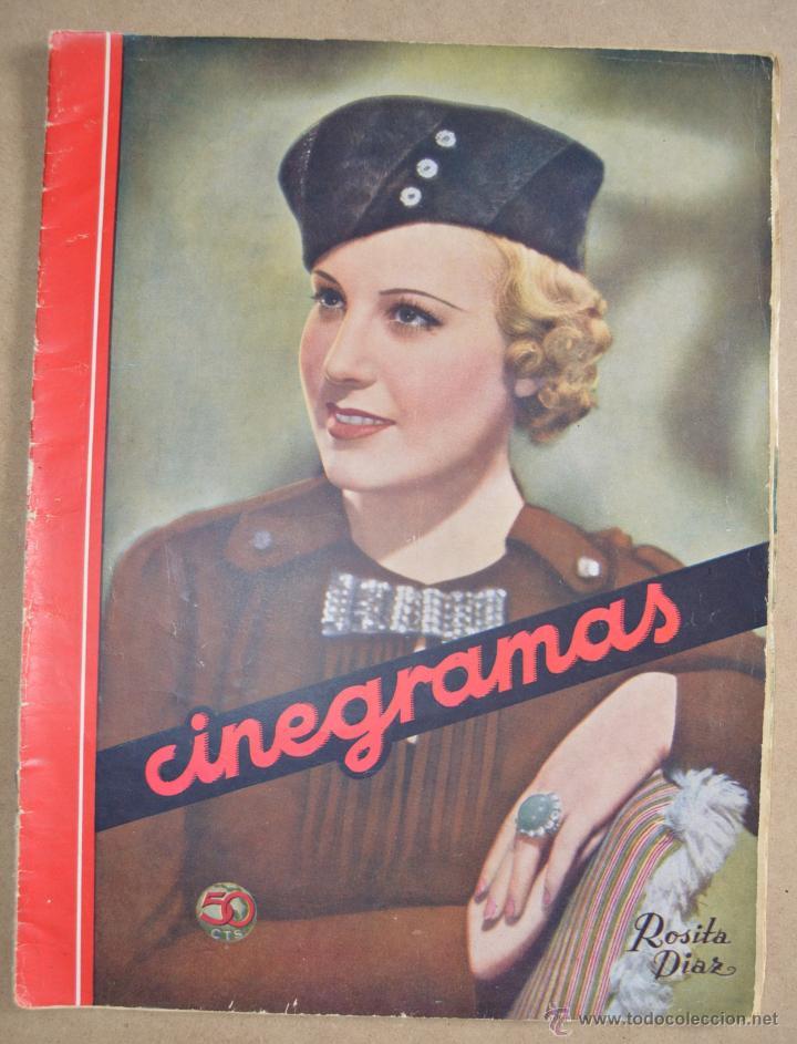 CINEGRAMAS Nº 38 ROSITA DÍAZ (Cine - Revistas - Cinegramas)
