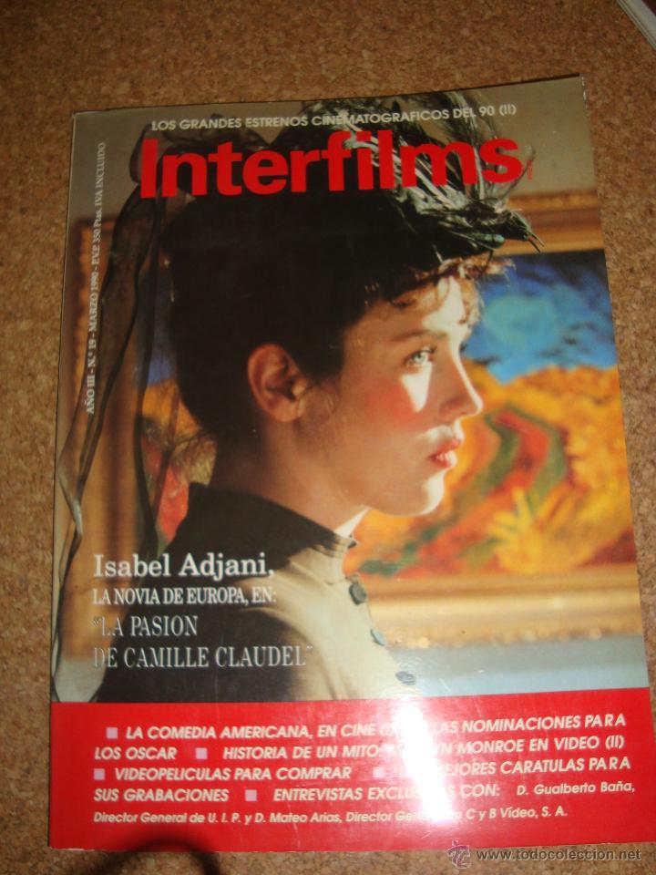 REVISTA INTERFILMS ISABEL ADJANI (Cine - Revistas - Interfilms)