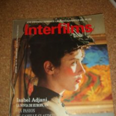 Cine: REVISTA INTERFILMS ISABEL ADJANI. Lote 49081479