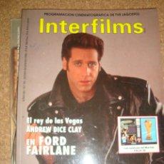 Cine: REVISTA INTERFILMS ANDREW DICE CLAY. Lote 49081510