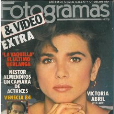 Cine: FOTOGRAMAS AÑO 1984 VICTORIA ABRIL. Lote 49110163