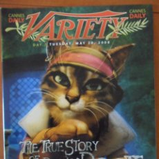 Cine: VARIETY. CANNES DAILY. DAY 7. WEDNESDAY, MAY 20, 2008. REVISTA DE CINE EN INGLES.. Lote 49126377