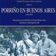 Cine: PORRIÑO EN BUENOS AIRES (1928-1929). Lote 151502777