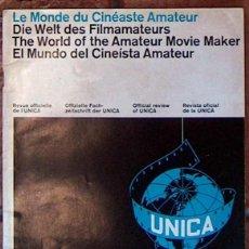 Cine: MUY RARA REVISTA EL MUNDO DEL CINEISTA AMATEURA U.N.I.C.A. Nº 1 JUL 1964 UNICA CINE. Lote 49259972