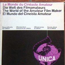 Cine: MUY RARA REVISTA EL MUNDO DEL CINEISTA AMATEURA U.N.I.C.A. Nº 5 MAYO 1965 UNICA CINE. Lote 49260007
