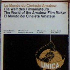Cine: MUY RARA REVISTA EL MUNDO DEL CINEISTA AMATEURA U.N.I.C.A. Nº 8 DICIEMBRE 1965 UNICA CINE. Lote 49260032