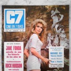 Cine: REVISTA C7 CINE EN 7 DÍAS - Nº 449 - 1969 - MARIANNA HILL, ROCK HUDSON, JANE FONDA. Lote 49267881