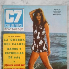 Cine: REVISTA C7 CINE EN 7 DÍAS - Nº 431 - 1969 NICOLETTA MAQUIAVELO, DANY ROS, RAYMOND BURR, CATHY ROSIER. Lote 49285108