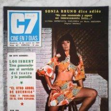 Cine: REVISTA C7 CINE EN 7 DÍAS - Nº 427 - 1969 - SONIA BRUNO, ROBERT TAYLOR, LOS ISBERT, C. CARDINALE. Lote 49285261