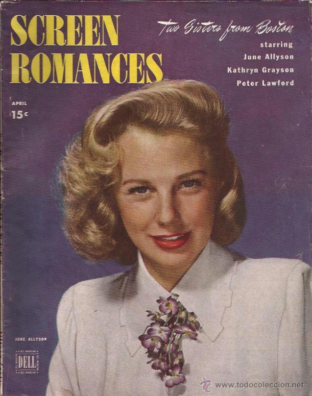 REVISTA DE CINE-SCREEN ROMANCES-USA-ABRIL 1946-JUNE ALLYSON PORTADA (Cine - Revistas - Otros)