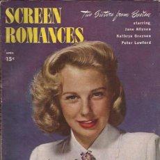Cine: REVISTA DE CINE-SCREEN ROMANCES-USA-ABRIL 1946-JUNE ALLYSON PORTADA. Lote 49293930