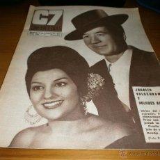 Cine: REVISTA C7 - Nº 340 - 1967 JUANITO VALDERRAMA Y DOLORES ABRIL.. Lote 49351743