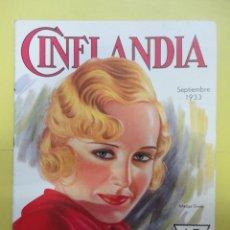 Cinema: CINELANDIA. SEPTIEMBRE 1933. TOMO VII. Nº 9. Lote 49449813