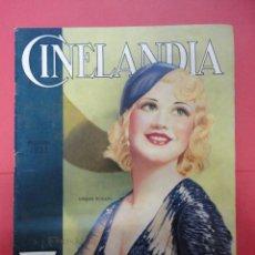 Cine: CINELANDIA. AGOSTO 1933. TOMO VII. Nº 8. Lote 49450977